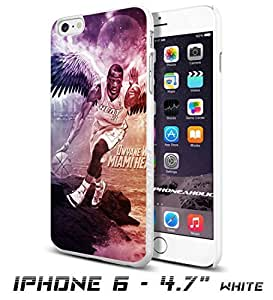 Basketball NBA Dwyane Wade 3 Miami Heat , Cool iPhone 6 - 4.7 Inch Smartphone Case Cover Collector iphone TPU Rubber Case White [By PhoneAholic]