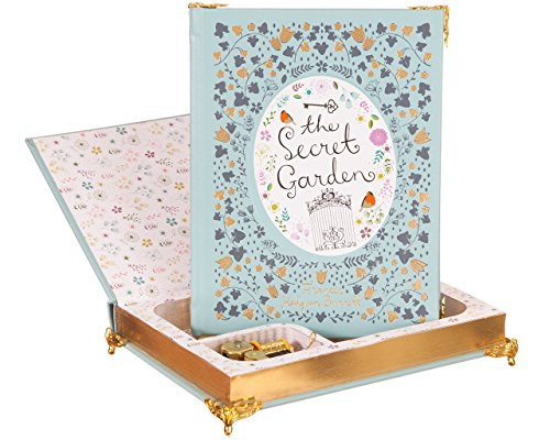 Hollow Book Music Box - The Secret Garden (Leather-bound) (Magnetic Closure)