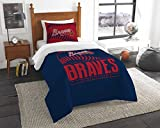 The Northwest Co mpany MLB Atlanta Braves Grandslam Twin 2-piece Comforter Set