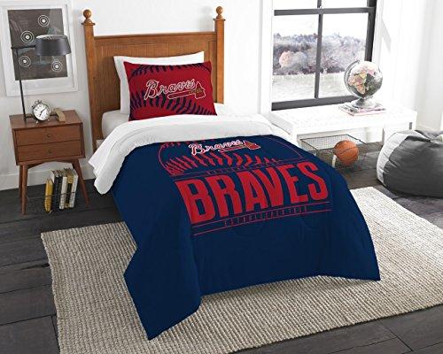 The Northwest Co mpany MLB Atlanta Braves Grandslam Twin 2-piece Comforter Set