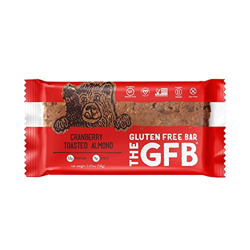The GFB Gluten Free, Non-GMO High Protein Bars, Cranberry Toasted Almond, 2.05 Ounce (Pack of 12) - Bar Cranberry Almond