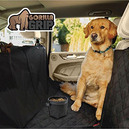 Gorilla Grip Original Slip-Resistant Durable and Premium Pet Car Seat Protector for Pets, Waterproof, Underside Grip (Black) (Hammock (Quilted)) by Gorilla Grip