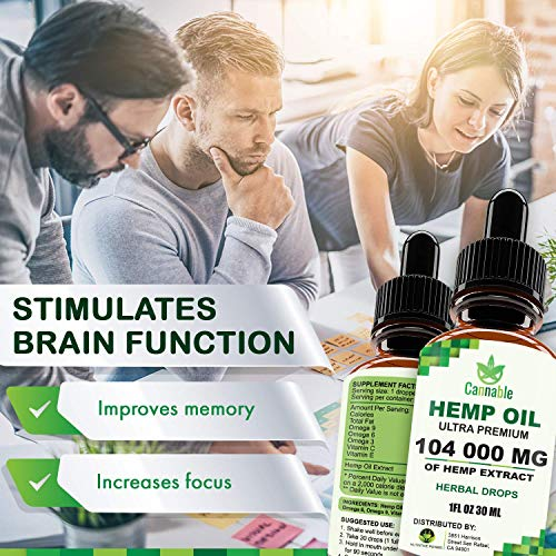 512xUyFoaLL - Hemp Oil Extract 104 000 mg, All-Natural Drops for Pain, Stress, Anxiety Relief, Deep Restful Sleep