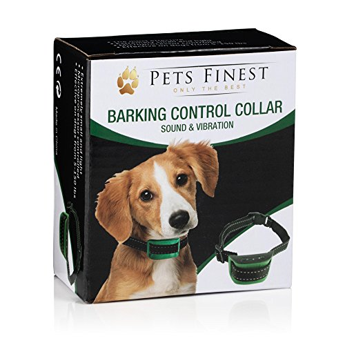 Pets Finest Anti Bark Dog Collar by Sound & Vibration Anti Bark Dog Collar