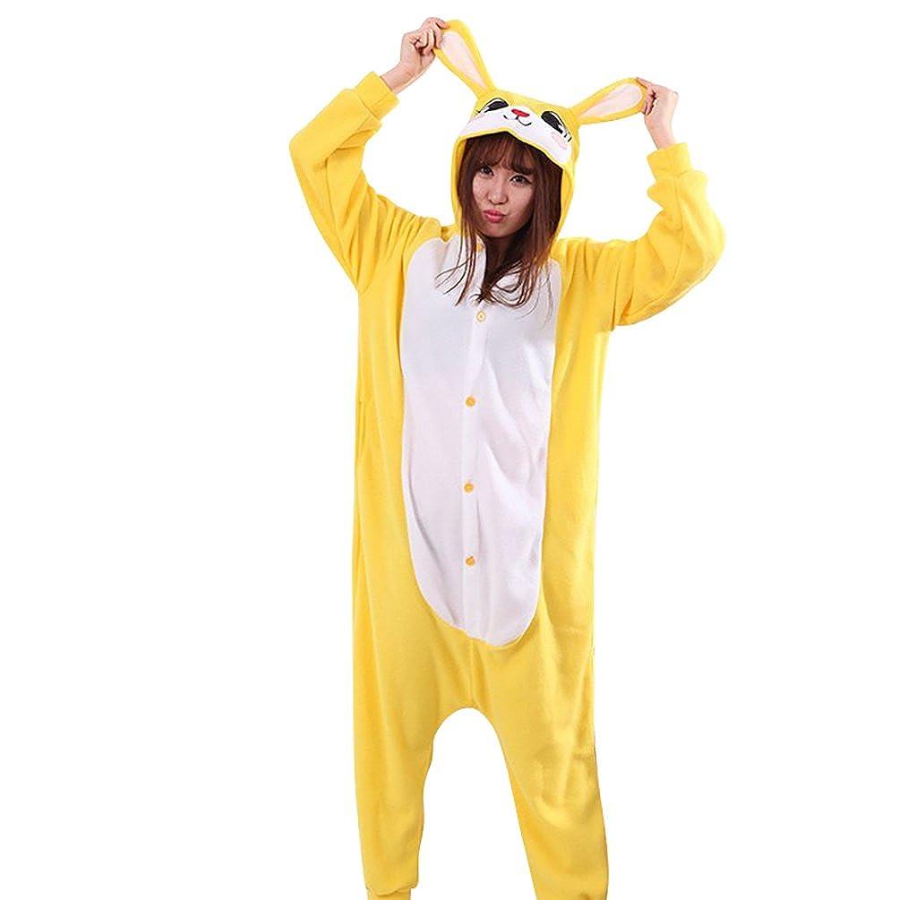 MissFox Pijamas Enteros Kigurumi Disfraces Cosplay de Animales para Adultos Unisex Disfraz Pijama Hombre Mujer Kigurumis Amarillo Conejo XL: Amazon.es: Ropa ...
