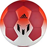 adidas Performance Messi Soccer Ball, White/Red/Solar Red, Size 5