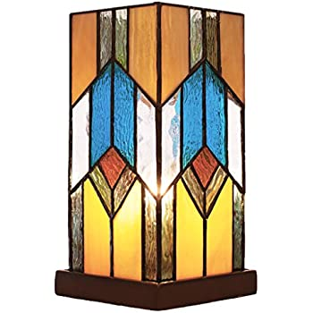 10 5 Quot Stained Glass Mission Uplight Accent Lamp Amazon Com