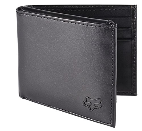 Fox Men's Leather Bifold Wallet, Black, One Size from Fox