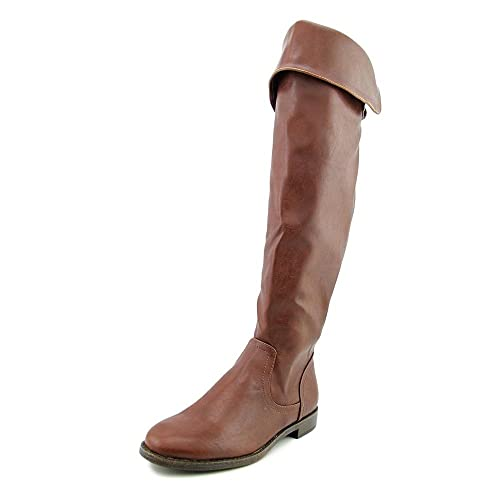 284ec13f2371 Pink   Pepper Womens Zolly Knee-High Buckles Dress Boots Brown 6 Medium (B