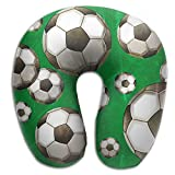 Neck Pillow With Resilient Material Flying Soccer Balls U Type Travel Pillow Super Soft Cervical Pillow