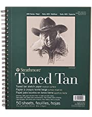 Pro-Art Strathmore Spiral Toned Sketch Book, 9 by 12-Inch, 50 Sheets