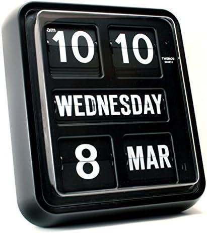 TWEMCO Diseño Moderno alemán Calendario de Cuarzo de Pared Reloj ...