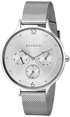 Multifunction Watch Skagen - Skagen Women's SKW2312 Anita Stainless Steel Mesh Watch