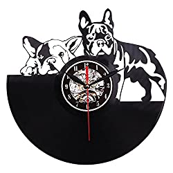 Wall Clocks - 2019 Vinyl Wall Clock Art Gift Room Modern Home Record Vintage Decoration Reloj Mural Sticker - Operated Miller Night Farmhouse Mechanical Pink Stickers Oval Iron Time Automotive