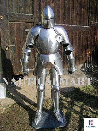 NAUTICALMART LARP Medieval Armor of Fifteenth Century Halloween Adult Full Body Costume - Reenactment ()