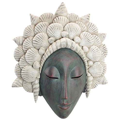 Design Toscano The The Seashell Maiden Mermaid Wall Sculpture, - Wall Sculpture Face