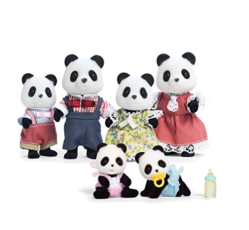 Calico Critters Wilder Panda Bear Family and Baby Twins