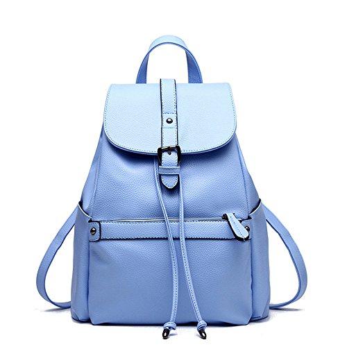 Mochila Señoras Bolso Casual blue Claret De Mochila Nuevo Cuero Bolsa Sky Señoras Meaeo RwqTX5
