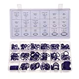 OWIKAR 270pcs Rubber O-Ring Washer Seals Assortment Kit Heavy Duty Wire Rings for Professional Plumbing, Automotive, Garage, Plumber, Mechanic, Workshops, Repairs-18 Sizes with Case (Purple)