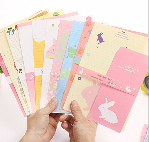 SCStyle 30 Cute Kawaii Lovely Colorful Design Writing Stationery Paper Letter Set with 15 Envelope (G88)