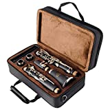EASTROCK Clarinet Bb Flat 17 Nickel Keys Student