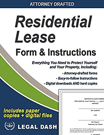 Residential Lease Form Comes With Instructions Faqs Checklist And Digital Downloads Do It Yourself Residential Lease Agreement Forms