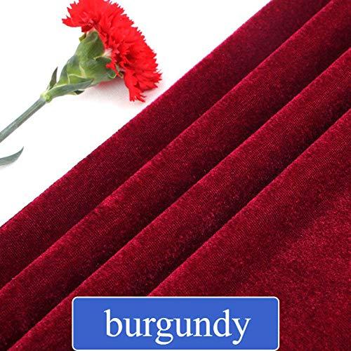 (FidgetFidget Velvet Pleuche Fabric Curtain Upholstery Tablecloth Background Sofa DIY Art Home Burgundy)