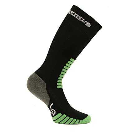 Euro Sock Supreme Medium Weight Kids Ski Socks - 4XS Black Mint 6fca98655