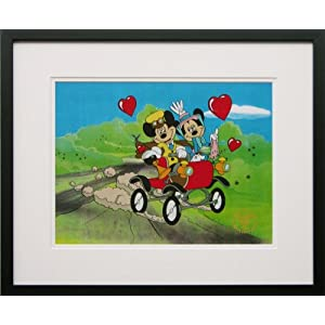 Nifty Nineties (Mickey Mouse and Minney Mouse) - Walt Disney Limited Edition Animation Cel Framed DC-MM-09F