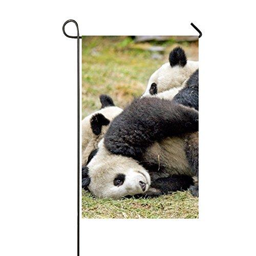 BaiGrid Sided Family Flag Giant Panda Bear Cubs Playing Patt