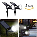 Brightown Upgraded Solar Lights 2-in-1 Waterproof Outdoor Landscape Lighting AdjustableSecurityWall Light Auto On/Off for Yard Garden Driveway Pathway Pool, Pack of 2 Outdoor Landscape Lighting Review