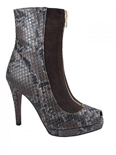 875 python Toe Women's Peep boot Italian Ankle Albano zw5F1H
