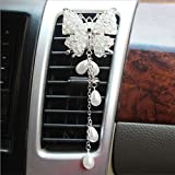 1 PC Diamond Butterfly Auto Outlet Perfume Car Air Freshener Air Condition Vent Decoration Car-styling