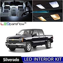 LEDpartsNOW Chevy Silverado 2000-2006 Xenon White Premium LED Interior Lights Package Kit (8 Pieces) + TOOL