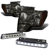 Ford F150 12th Gen Smoke Lens Amber Corner Headlight+DRL 8 LED Fog Light