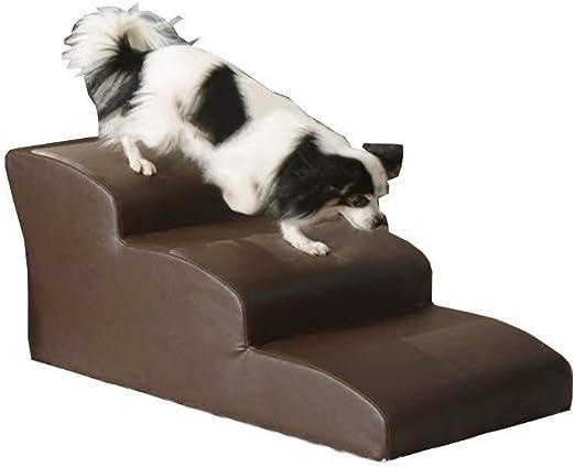 Yuandudu Louti Mascota del Amortiguador del Resto Ocio Entretenimiento Juguete Cama Escalera Slide Slip escaleras de Mascotas Bottom (Color : Brown, Size : 4Step): Amazon.es: Productos para mascotas