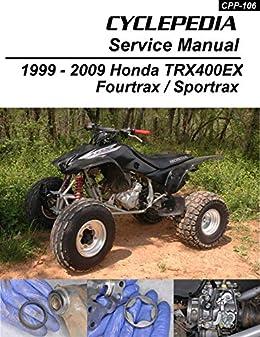 2004 400ex wiring schematic 1999 2009 honda trx400ex fourtrax service manual  cyclepedia press  1999 2009 honda trx400ex fourtrax