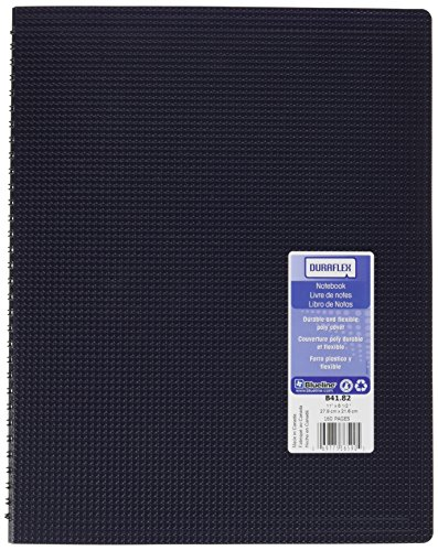 Blueline Duraflex Poly Notebook, Blue, 11 x 8.5 inches, 160 Pages (B41.82)