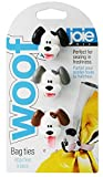 Joie Woof Bag Ties, Silicone, Set of 3, 5.5-Inches x 1-Inches x .5-Inches