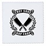 3dRose Carsten Reisinger - Illustrations - Chef Said Chop Chop Funny Kitchen Chef Design - 14x14 inch Quilt Square (qs_282658_5)