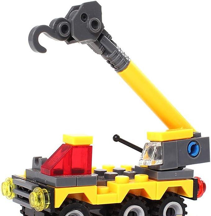 Bloques de construcción educativos para niños juguetes que ensamblan bloques de construcción de plástico niños y niñas juguetes jardín de infantes regalo de vacaciones grúa de juguete: Amazon.es: Amazon.es