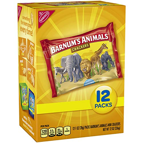 Barnum's Animals 12 Count Mini Animal Crackers Snack Packs, Original, 12.0 Ounce (Pack of ()