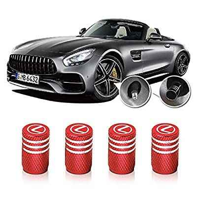 QINGTECH Valve Stem Caps, Tire Caps for Replacement Lexus Accessories Car,Motorbike,Trucks,Bike and Bicycle Aluminum 4pcs: Automotive