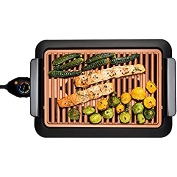 Amazon.com: Gotham Steel 1619 Smokeless Electric Grill, Large, Brown ...