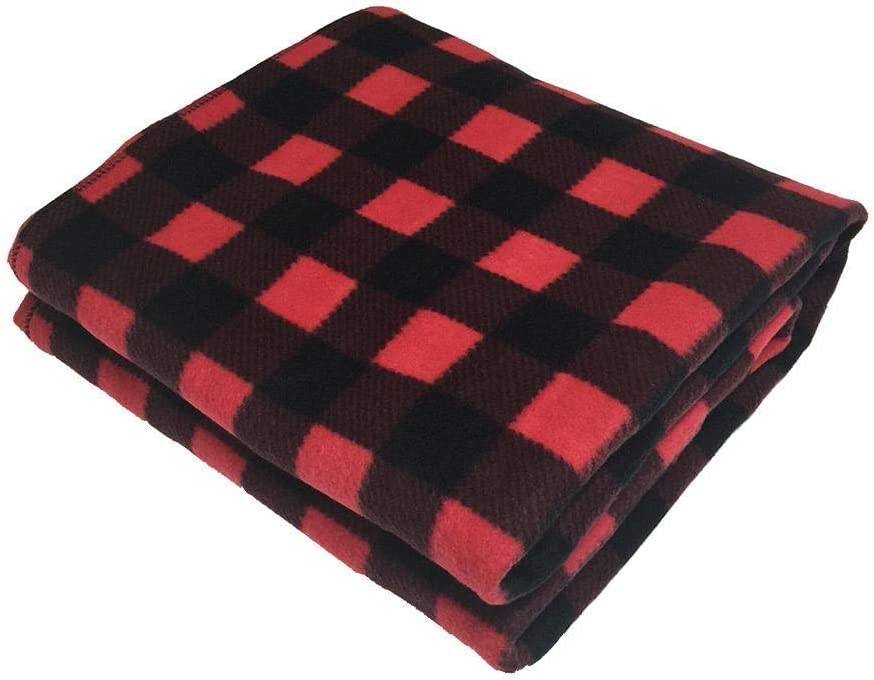 Homeself Electric Car Heating Blanket, 12 Volt Fleece Constant Temperature Anti-Overheat Blanket for SUV Vehicle Truck Boats RV, Winter Cold Weather Travel Camping Use (Black Red)