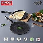 Vinod Supreme Induction Friendly Non-Stick Cookware Set, 2pcs, Dosa Tawa and Concave Tawa,Garnet Metallic