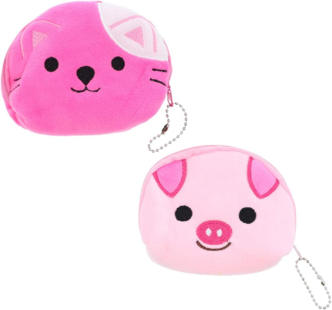 Small Animal Coin Purse Plush Wallet Set of 2