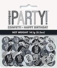 Unique Party- Confeti, Color black & silver (83824)