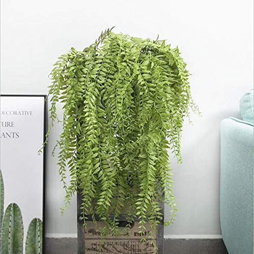 DIGATE Outsunny Rattan Crassulas Plants 90cm Artificial Drip Grass Plastic Plants Wall Hanging Vine Rattan for Home Garden Decoration Fleur artificielle Faux Foliage