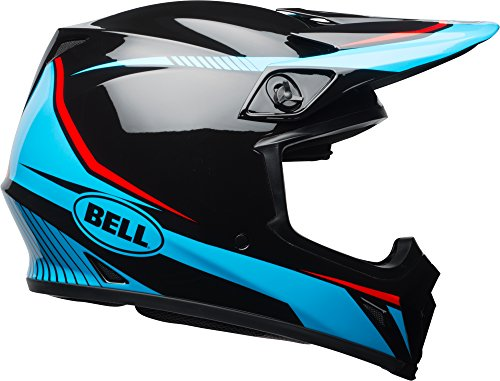Bell MX-9 MIPS Off-Road Motorcycle Helmet (Gloss Black/Cyan/Red Torch, Small) ()